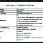 RTI ( Not sure fake or real but still have a look ) – Mains Date SSC CGL 2015